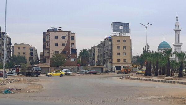 Nhân dân Syria và Palestine cùng nhau khôi phục quận Yarmuk ở Damascus - Sputnik Việt Nam