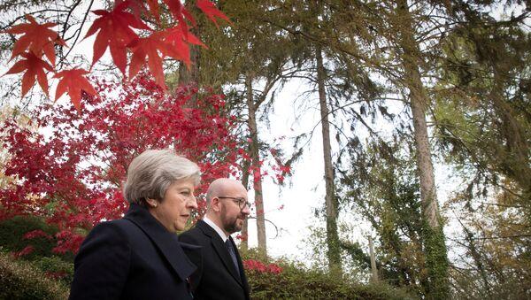 Charles Michel và Theresa May - Sputnik Việt Nam