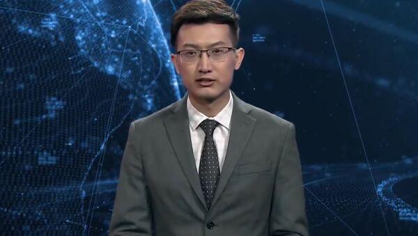 Hãng thông tấn Tân Hoa Xã đã giới thiệu công việc của robot - phát thanh viên truyền hình. - Sputnik Việt Nam
