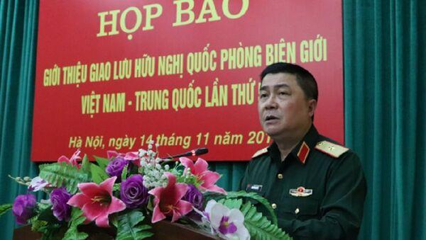 Thiếu tướng Nguyễn Đại Hội trả lời câu hỏi của các nhà báo - Sputnik Việt Nam