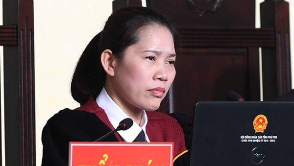 Thẩm phán Nguyễn Thị Thùy Hương được đánh giá điều hành phiên tòa dứt khoát, nghiêm khắc trong 3 ngày qua. - Sputnik Việt Nam