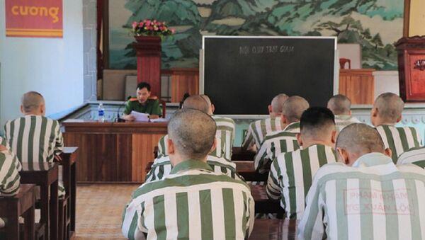 Các phạm nhân tham gia lớp học nội quy tại trại giam Xuân Lộc, Đồng Nai - Sputnik Việt Nam