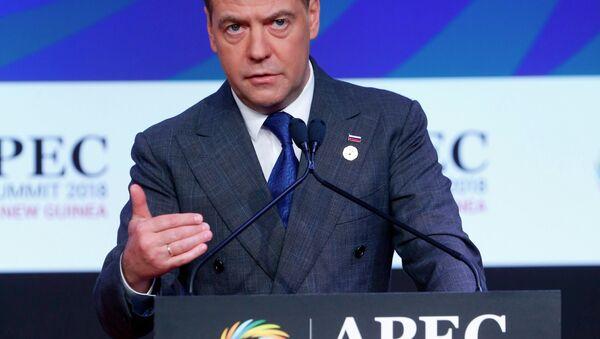 Thủ tướng Nga Dmitry Medvedev phát biểu tại hội nghị thượng đỉnh APEC - Sputnik Việt Nam