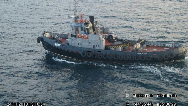 Ba tàu của Hải quân Ukraina Berdyansk, Nikopol và Yana Kapa vi phạm biên giới Nga - Sputnik Việt Nam