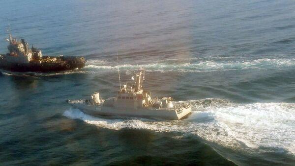 Tàu Berdyansk, Nikopol và Yana Kapu của Hải quân Ukraina vi phạm biên giới Nga - Sputnik Việt Nam