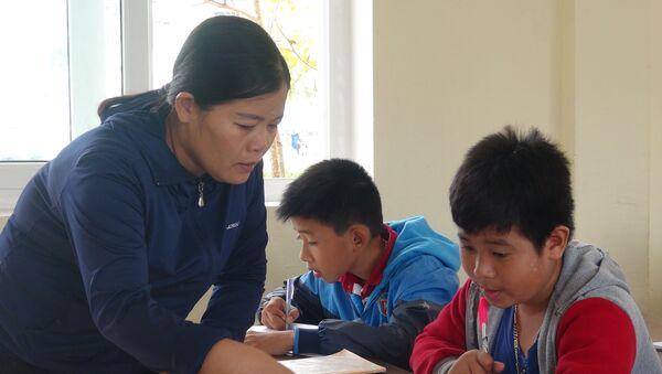 Cô giáo Nguyễn Thị Phương Thủy, giáo viên Trường THCS Duy Ninh (Quảng Bình). - Sputnik Việt Nam