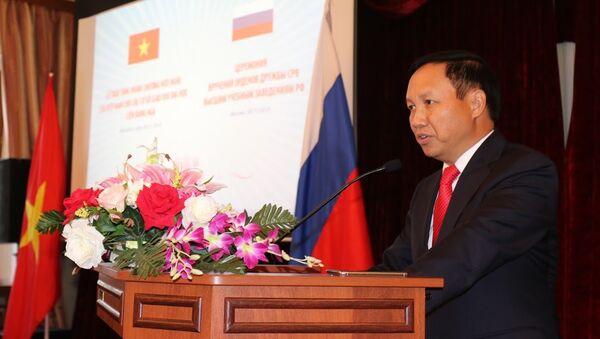 Ông Ngô Đức Mạnh, Đại sứ nước Cộng hòa xã hội chủ nghĩa Việt Nam tại Lễ trao tặng Huân chương Hữu nghị cho ba trường đại học Nga - Sputnik Việt Nam
