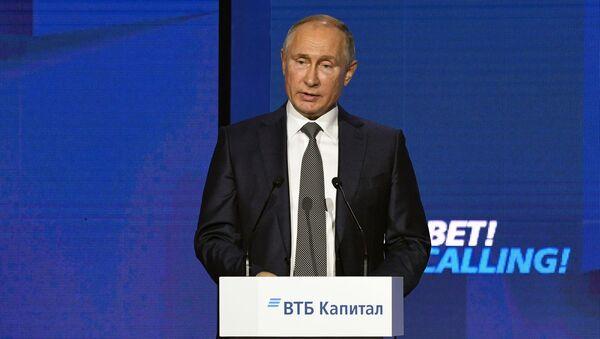 """Tổng thống Nga Vladimir Putin tại Diễn đàn """"Nước Nga vẫy gọi!"""" - Sputnik Việt Nam"""