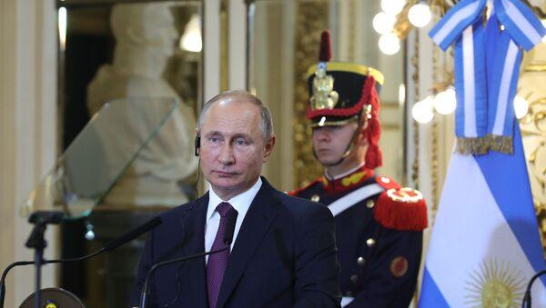 Vladimir Putin tại hội nghị thượng đỉnh G20 ở Argentina - Sputnik Việt Nam