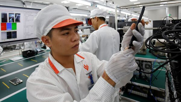 Sản xuất smartphone Vingroup Vsmart tại Hải Phòng, Việt Nam - Sputnik Việt Nam