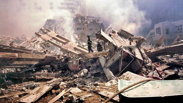 Cảnh đổ nát vì cuộc tấn công khủng bố ngày 11 tháng Chín tại New York - Sputnik Việt Nam