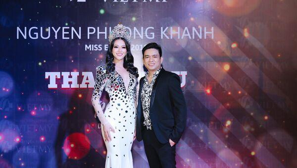 Bác sĩ Chiêm Quốc Thái - người có mặt trong đêm chung kết Hoa hậu Trái đất 2018 cùng Phương Khánh - Sputnik Việt Nam