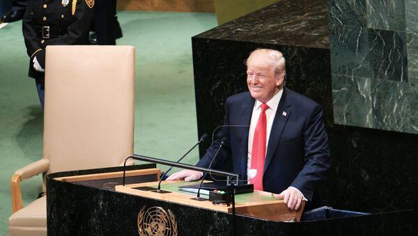 Tổng thống Mỹ Donald Trump phát biểu tại Đại hội đồng Liên Hợp Quốc ở New York - Sputnik Việt Nam