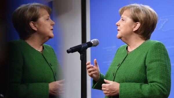 Thủ tướng Đức Angela Merkel trong Hội nghị thượng đỉnh EU tại Brussels - Sputnik Việt Nam