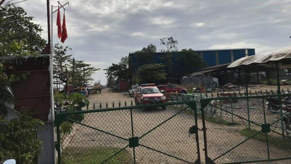 Cảnh sát phong tỏa hiện trường vụ nổ. - Sputnik Việt Nam