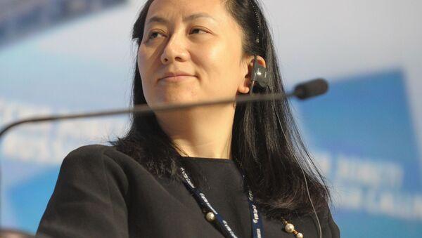 Giám đốc tài chính của công ty Huawei, bà Mạnh Vạn Châu - Sputnik Việt Nam