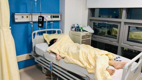 Nạn nhân Trang đã được mổ phẫu thuật và đang nằm điều trị tại Bệnh viện Trung ương Quân đội 108 - Sputnik Việt Nam