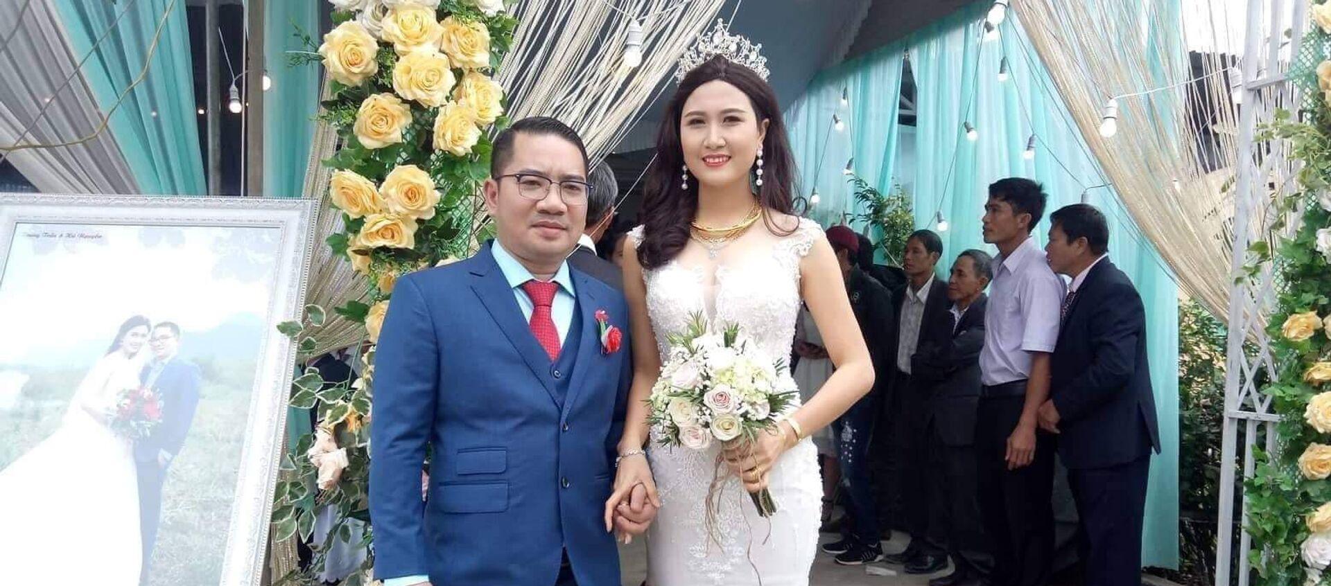 Nguyễn Thị Hà trong đám cưới với vị doanh nhân - Sputnik Việt Nam, 1920, 19.12.2018