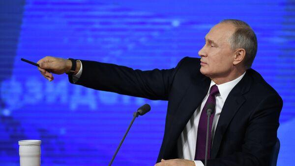 Cuộc họp báo lớn của Tổng thống Nga Vladimir Putin năm 2018 - Sputnik Việt Nam