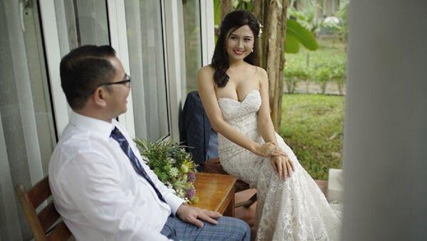 Hình cưới của chú rể và cô dâu người đẹp trong cuộc thi hoa hậu Việt Nam - Sputnik Việt Nam