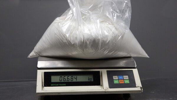 Cảnh sát ma túy bắt giữ một túi cocaine - Sputnik Việt Nam