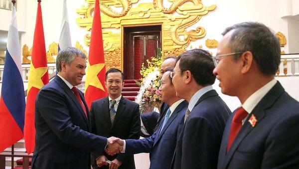 Vyacheslav Volodin và Nguyễn Xuân Phúc - Sputnik Việt Nam