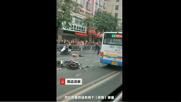 Cướp xe bus khiến 26 người thương vong ở Trung Quốc - Sputnik Việt Nam