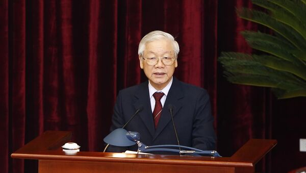 Tổng Bí thư, Chủ tịch nước Nguyễn Phú Trọng phát biểu bế mạc hội nghị. - Sputnik Việt Nam