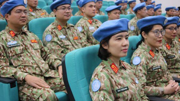 Quân nhân bệnh viện dã chiến cấp 2 số 2 sẽ tham gia hoạt động gìn giữ hòa bình LHQ.  - Sputnik Việt Nam