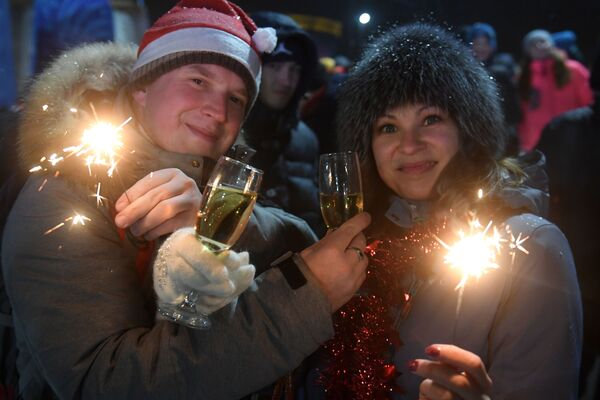Đón Năm Mới 2019 bên Cây thông Chính ở thành phố Kazan - Sputnik Việt Nam