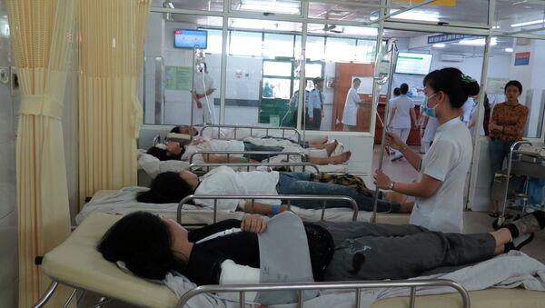 Các nạn nhân đang được cấp cứu tại Bệnh viện Đa khoa Đà Nẵng. - Sputnik Việt Nam
