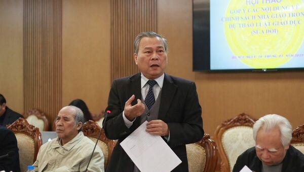 Ông Lê Quán Tần, nguyên Vụ trưởng Vụ Giáo dục Trung học (Bộ GD-ĐT). - Sputnik Việt Nam