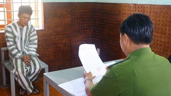 Công an tỉnh Vĩnh Long đã khởi tố bị can đối với Hồ Đức Thiện. - Sputnik Việt Nam