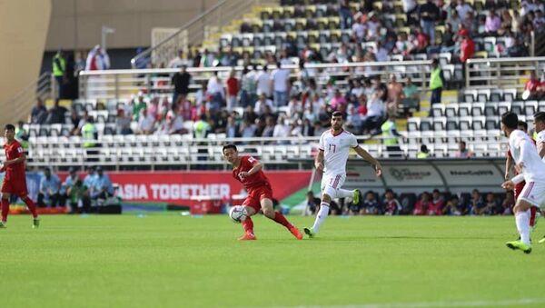 Các cầu thủ Việt Nam tỏ ra tự tin trước ứng cử viên hàng đầu Iran. - Sputnik Việt Nam