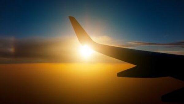 Cánh máy bay trong hoàng hôn - Sputnik Việt Nam