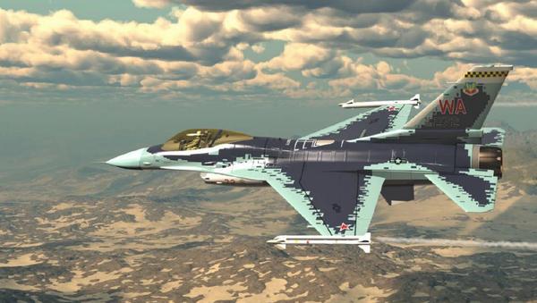 Máy bay Mỹ F-16 được sơn lại thành Su-57 của Nga - Sputnik Việt Nam