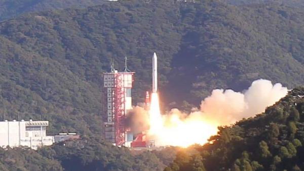 Tên lửa Epsilon số 4 của Nhật Bản được phóng ngày 18/1 mang theo vệ tinh MicroDragon của Việt Nam. Ảnh: VNSC - Sputnik Việt Nam