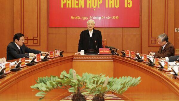 Tổng Bí thư, Chủ tịch nước Nguyễn Phú Trọng phát biểu chỉ đạo phiên họp. - Sputnik Việt Nam