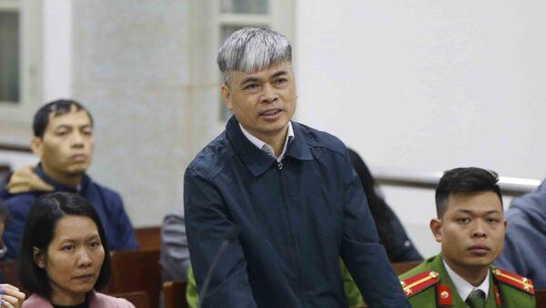 Bị án Nguyễn Xuân Sơn, nguyên Tổng giám đốc Ngân hàng Đại Dương – Oceanbank, người có trách nhiệm liên quan được triệu tập đến tòa. - Sputnik Việt Nam
