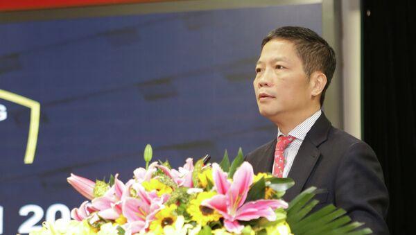 Bộ trưởng Bộ Công Thương Trần Tuấn Anh phát biểu chỉ đạo hội nghị. - Sputnik Việt Nam