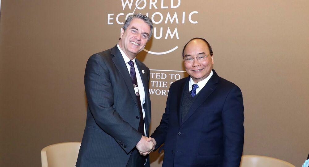 Thủ tướng Nguyễn Xuân Phúc hội kiến Tổng Giám đốc WTO Roberto Azevêdo