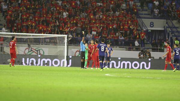 Công nghệ Var đã tạo cơ hội cho đội tuyển Nhật Bản hưởng quả phạt đền. - Sputnik Việt Nam