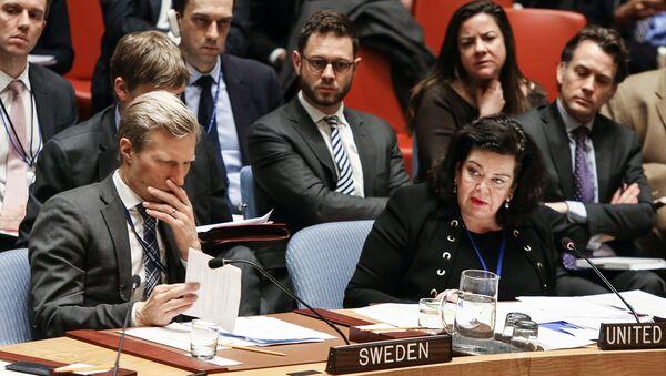 Karen Pierce at a Security Council Meeting. File photo. - Sputnik Việt Nam