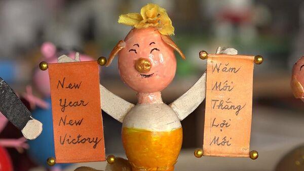 Chú heo từ vỏ trứng chào mừng năm mới Kỷ Hợi - Sputnik Việt Nam