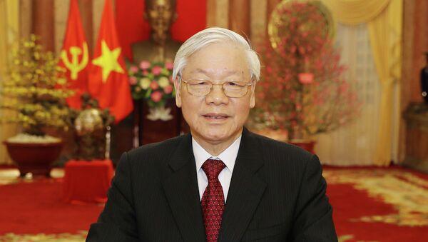 Tổng Bí thư, Chủ tịch nước Nguyễn Phú Trọng đọc Thư chúc Tết Xuân Kỷ Hợi 2019 - Sputnik Việt Nam