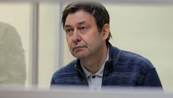 Руководитель портала РИА Новости Украина Кирилл Вышинский на заседании в Херсонском апелляционном суде - Sputnik Việt Nam