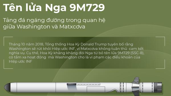 Tên lửa Nga 9M729 - Sputnik Việt Nam