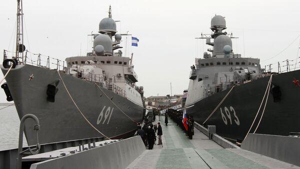 Tàu tên lửa Dagestan và Tatarstan - Sputnik Việt Nam