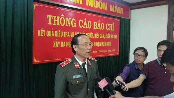 Thiếu tướng Sùng A Hồng - Giám đốc Công an tỉnh Điện Biên thông tin về vụ án. - Sputnik Việt Nam