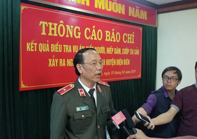 Thiếu tướng Sùng A Hồng - Giám đốc Công an tỉnh Điện Biên thông tin về vụ án.
